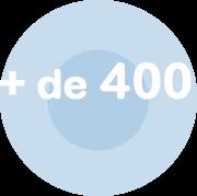 logo chiffre + de 400